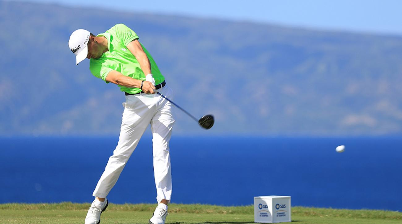 Justin Thomas launches a drive during the final round of the SBS Tournament of Champions.