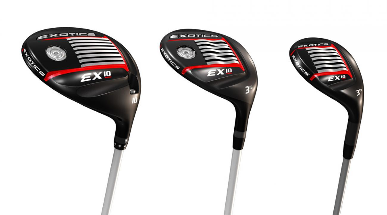 The new Tour Edge Exotics EX10 driver, fairway wood, and hybrid.