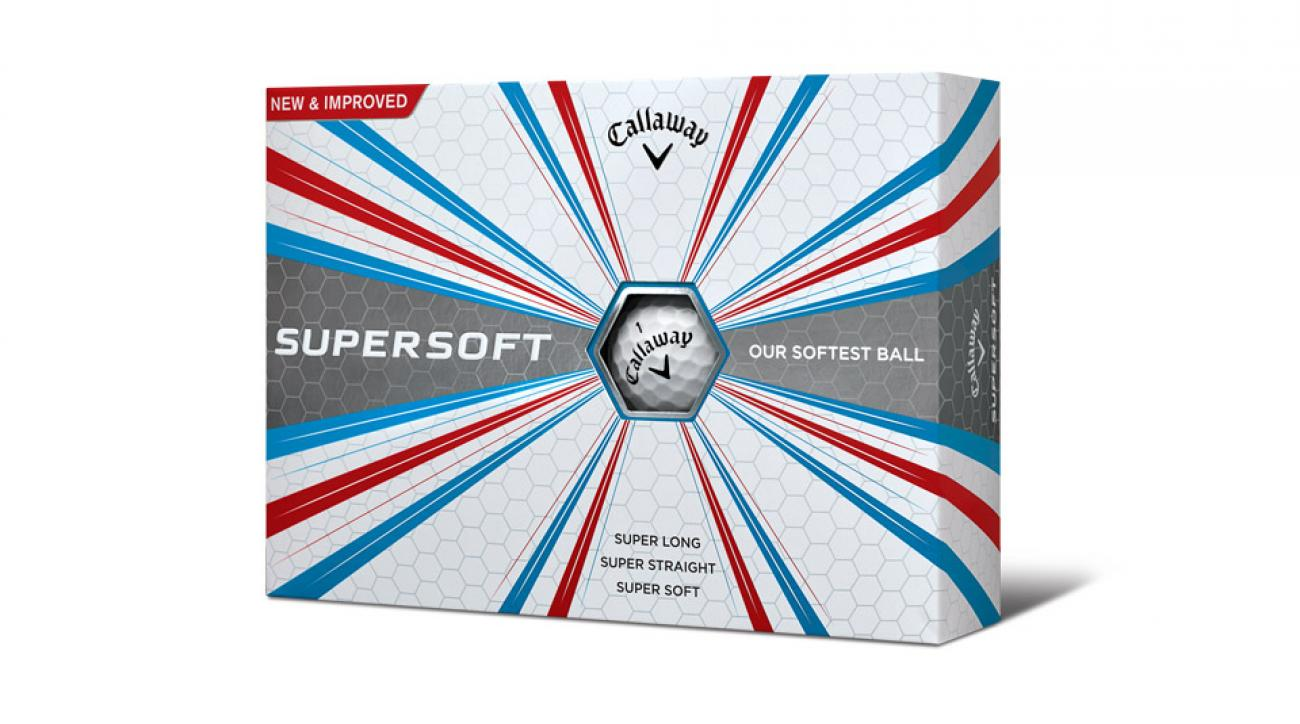 The new Callaway Supersoft golf balls.