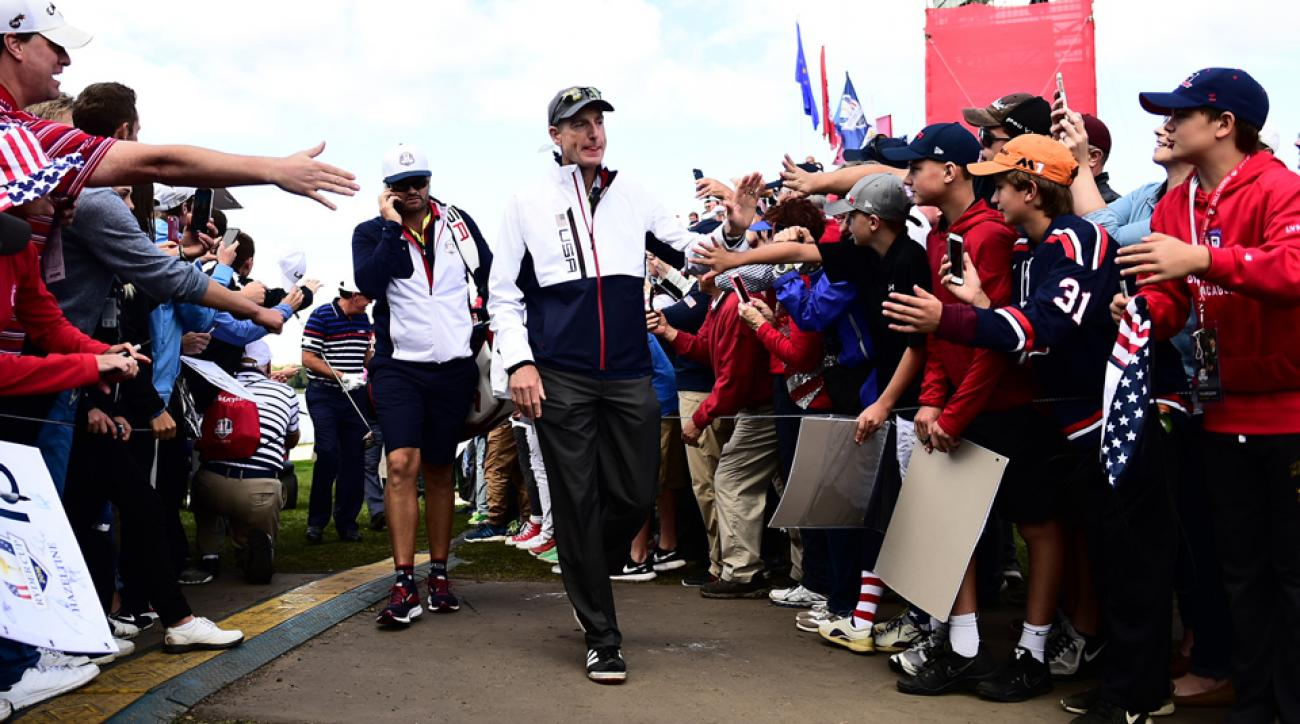 Jim Furyk played the role of assistant captain at the 2016 Ryder Cup.