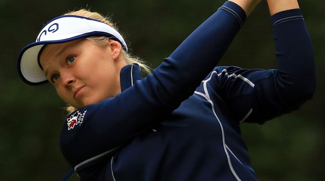 Brooke Henderson is a three-time winner on the LPGA Tour.