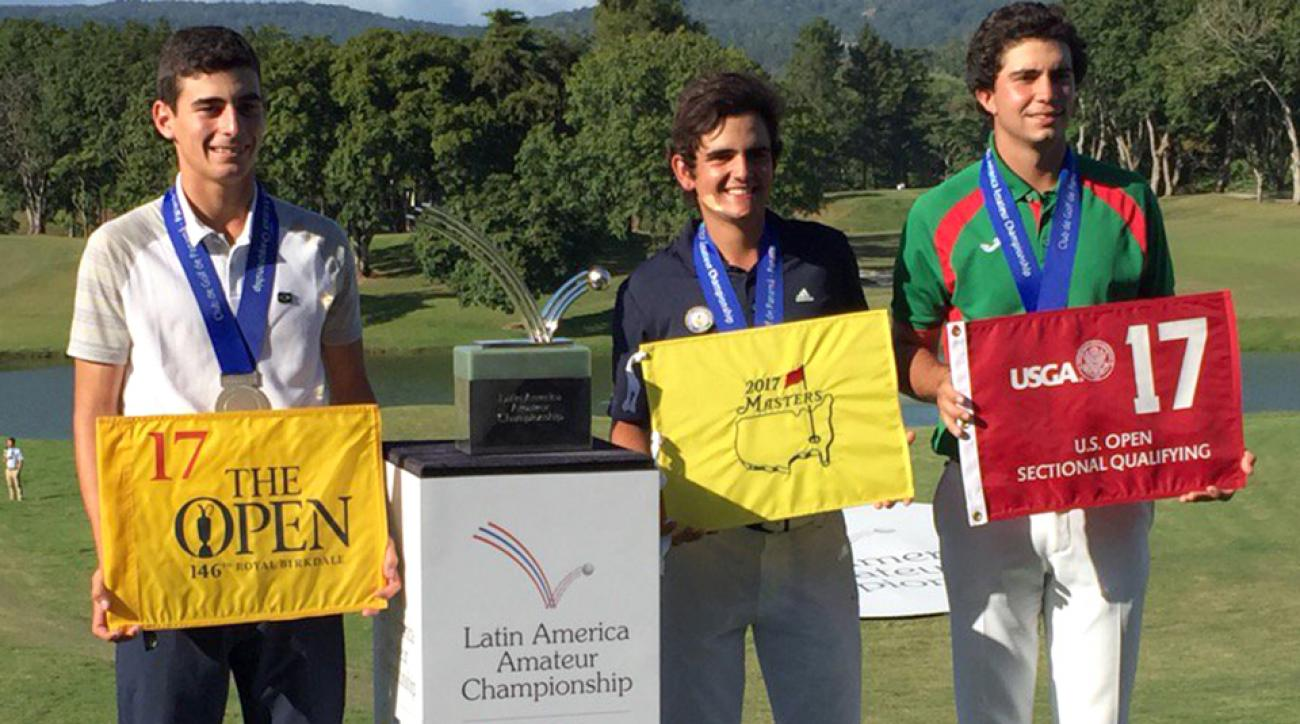 Toto Gana (middle) is headed to Augusta National and the Masters.
