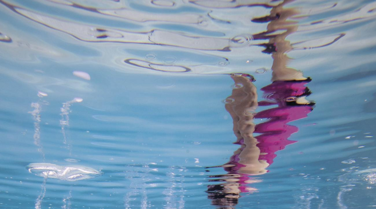 Lexi Thompson poses for a portrait underwater in Miami, Florida in December.