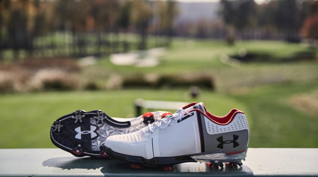 "Jordan Spieth introduces his new golf shoe with Under Armour, the ""Spieth One."""