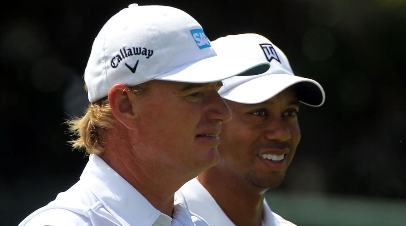 Ernie Els battled Tiger Woods on the PGA Tour throughout the 90s and 00s.