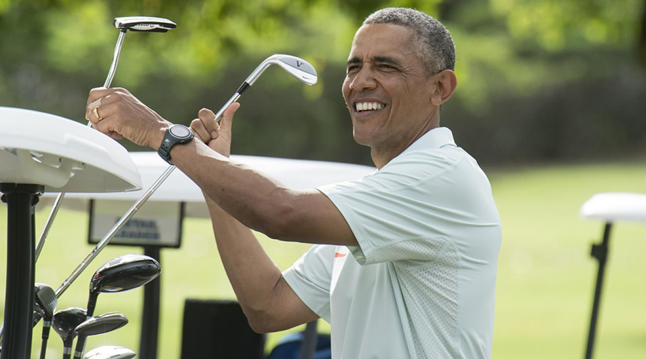 President Barack Obama has played golf with celebrities and several high-profile figures over the last eight years.