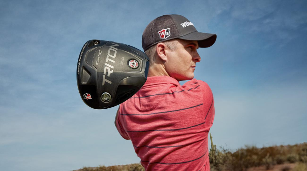 Kevin Streelman poses with his new Wilson Staff Triton DVD driver.