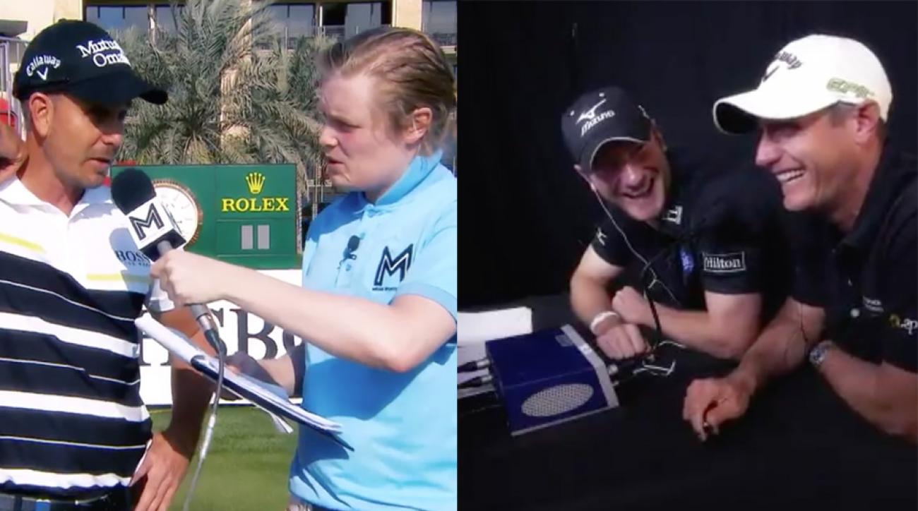 "The European Tour's ""awkward reporter"" takes on the Abu Dhabi HSBC Championship."
