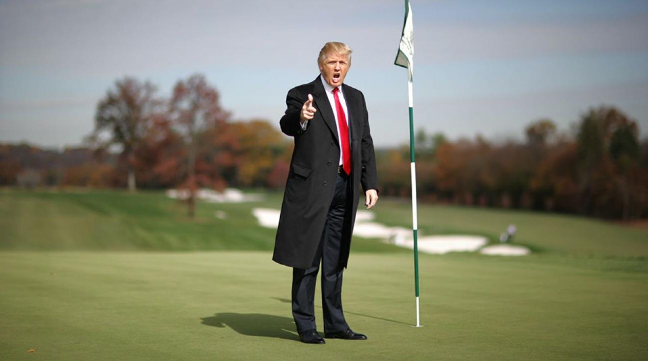 Donald Trump at his course in Bedminster, N.J.