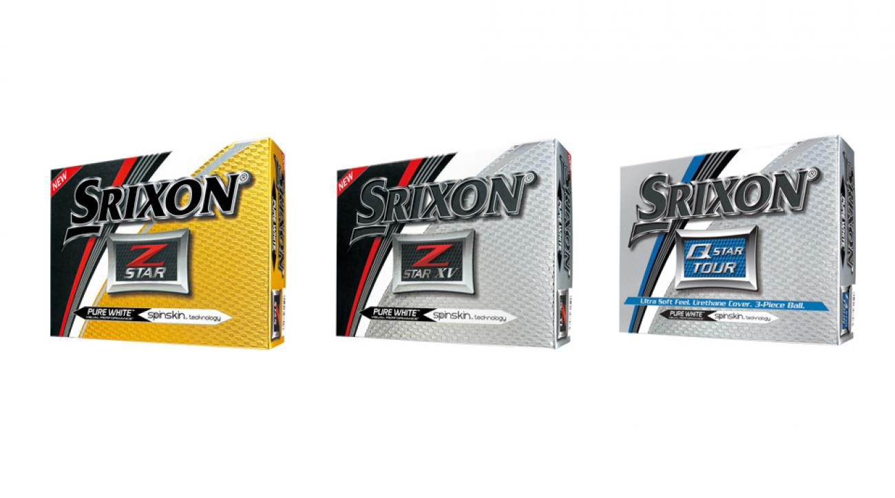 The three new Srixon golf ball models.