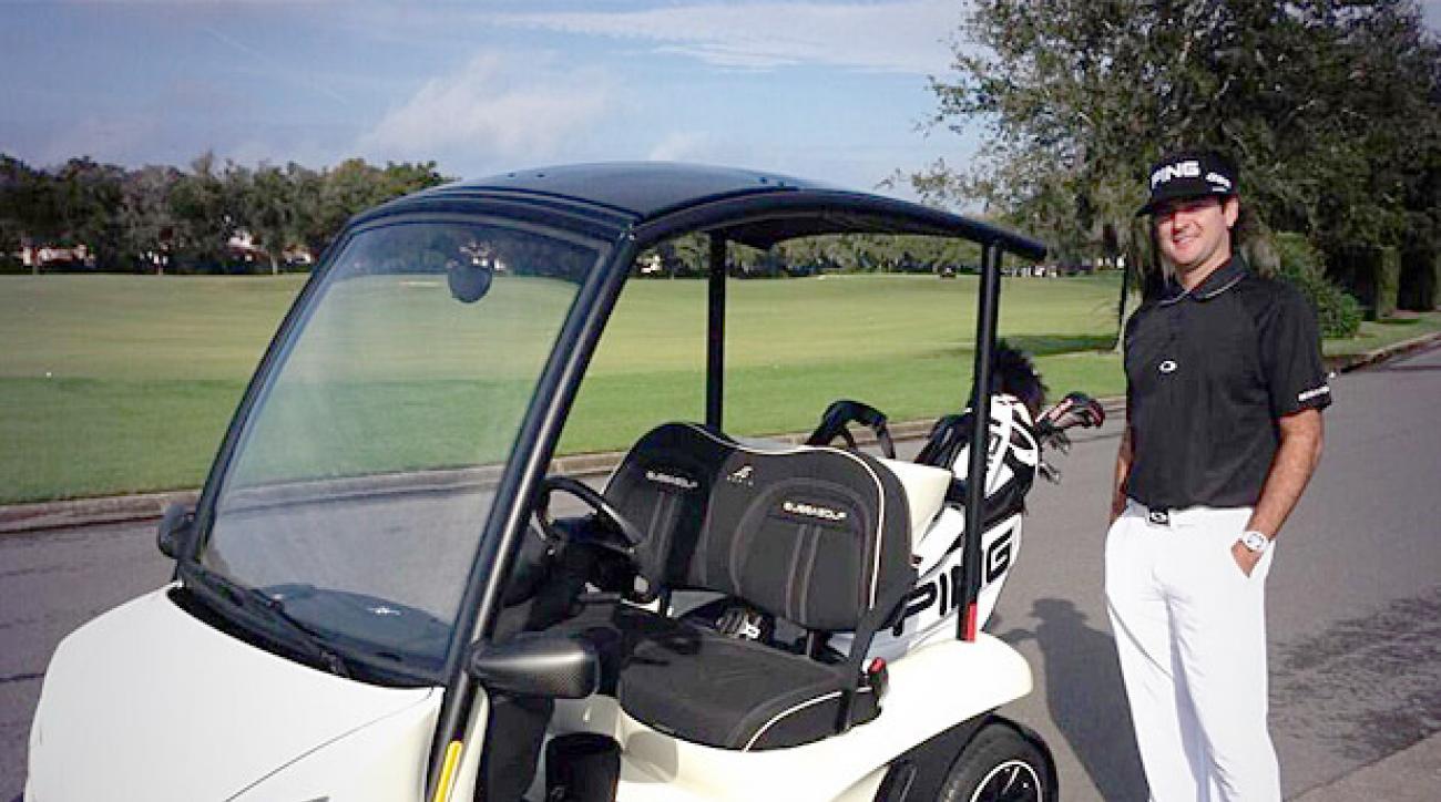 Bubba Watson, Golf Cart
