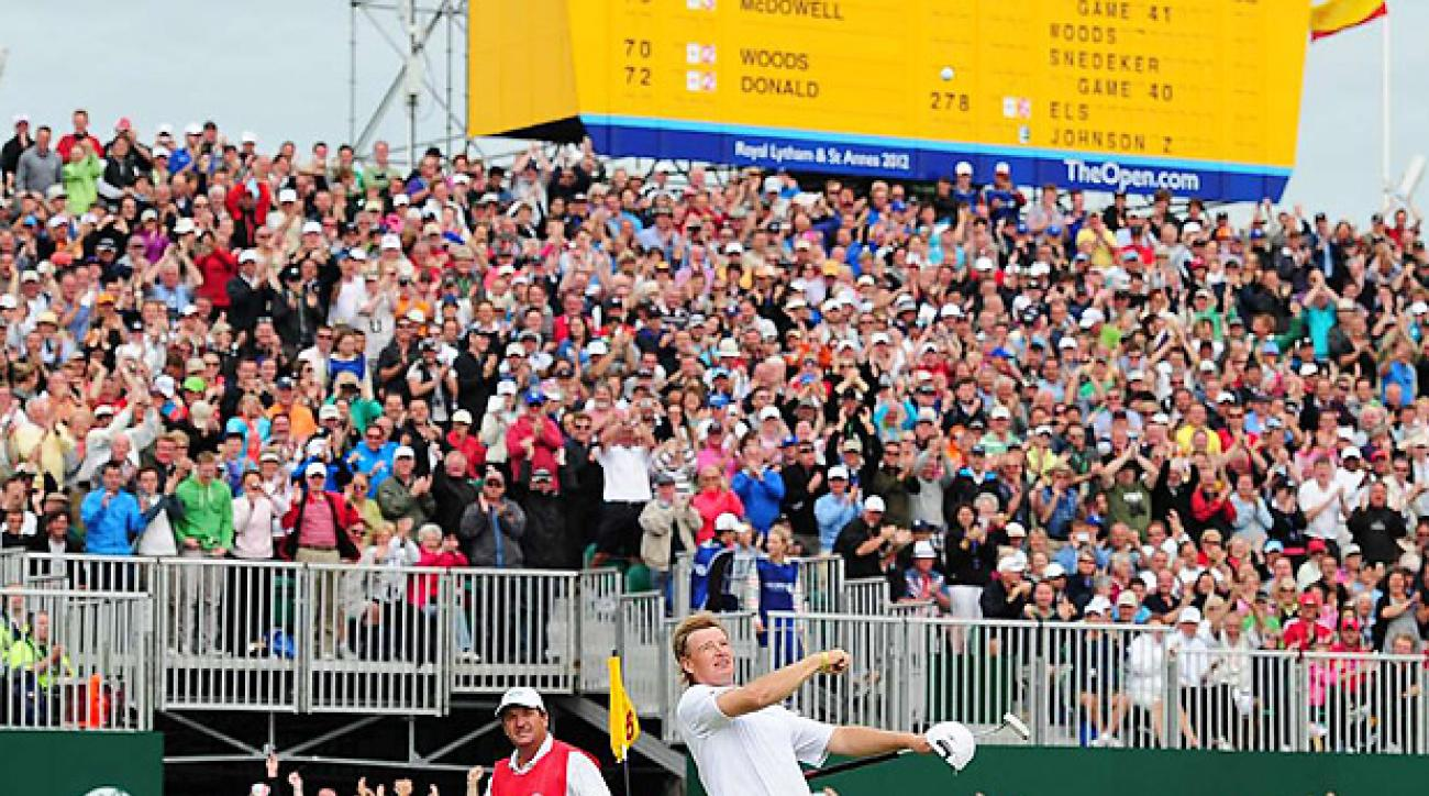 Ernie Els used a belly putter to win the 2012 British Open. (Thomas Lovelock/Sports Illustrated)