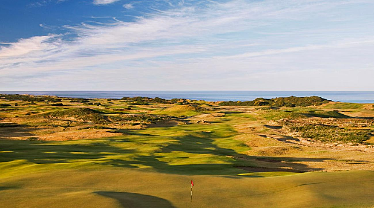 Mike Keiser's Bandon Dunes Golf Resort as quickly become one of the premiere golf destinations in the world. (Pictured: Old Macdonald course; Credit: Wood Sabold)