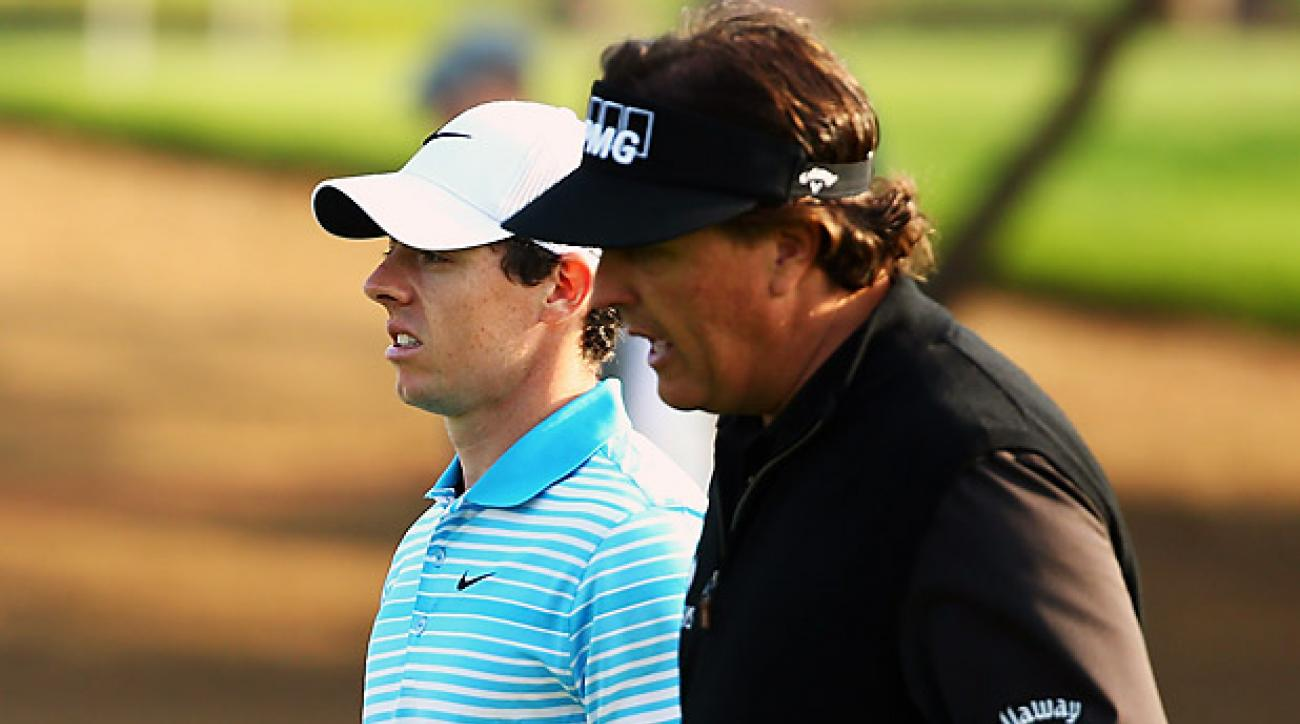 Rory McIlroy, Phil Mickelson