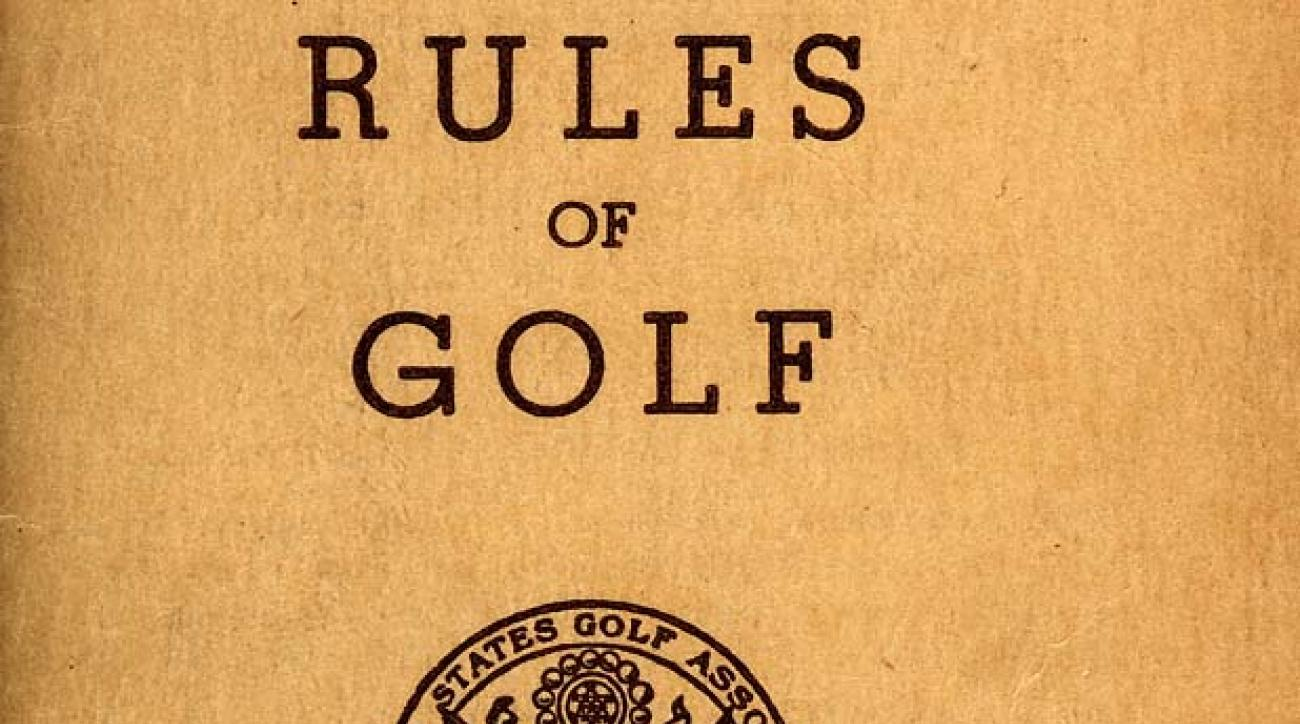 Scan of the cover of the 1951 Rules of Golf book.  (Courtesy USGA Archives)