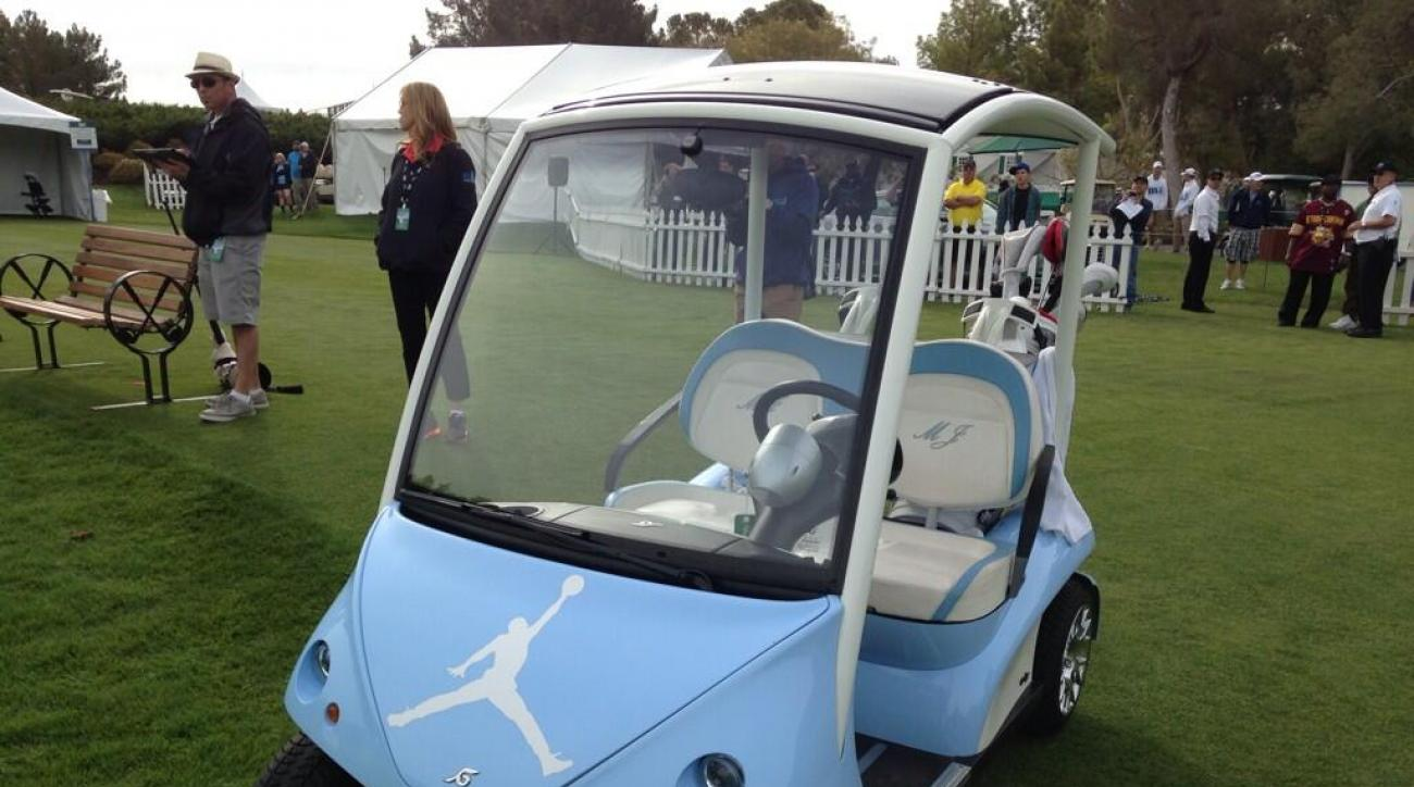 Michael Jordan's golf cart