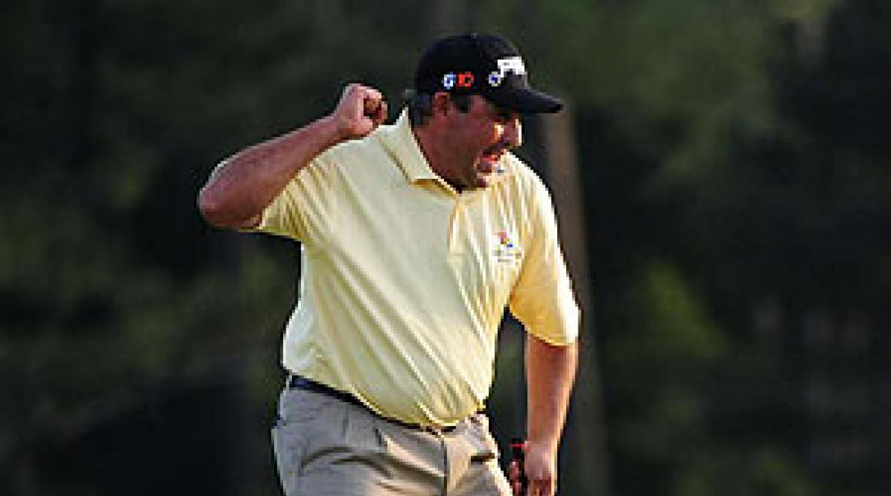 Angel Cabrera won the Masters on the second playoff hole.