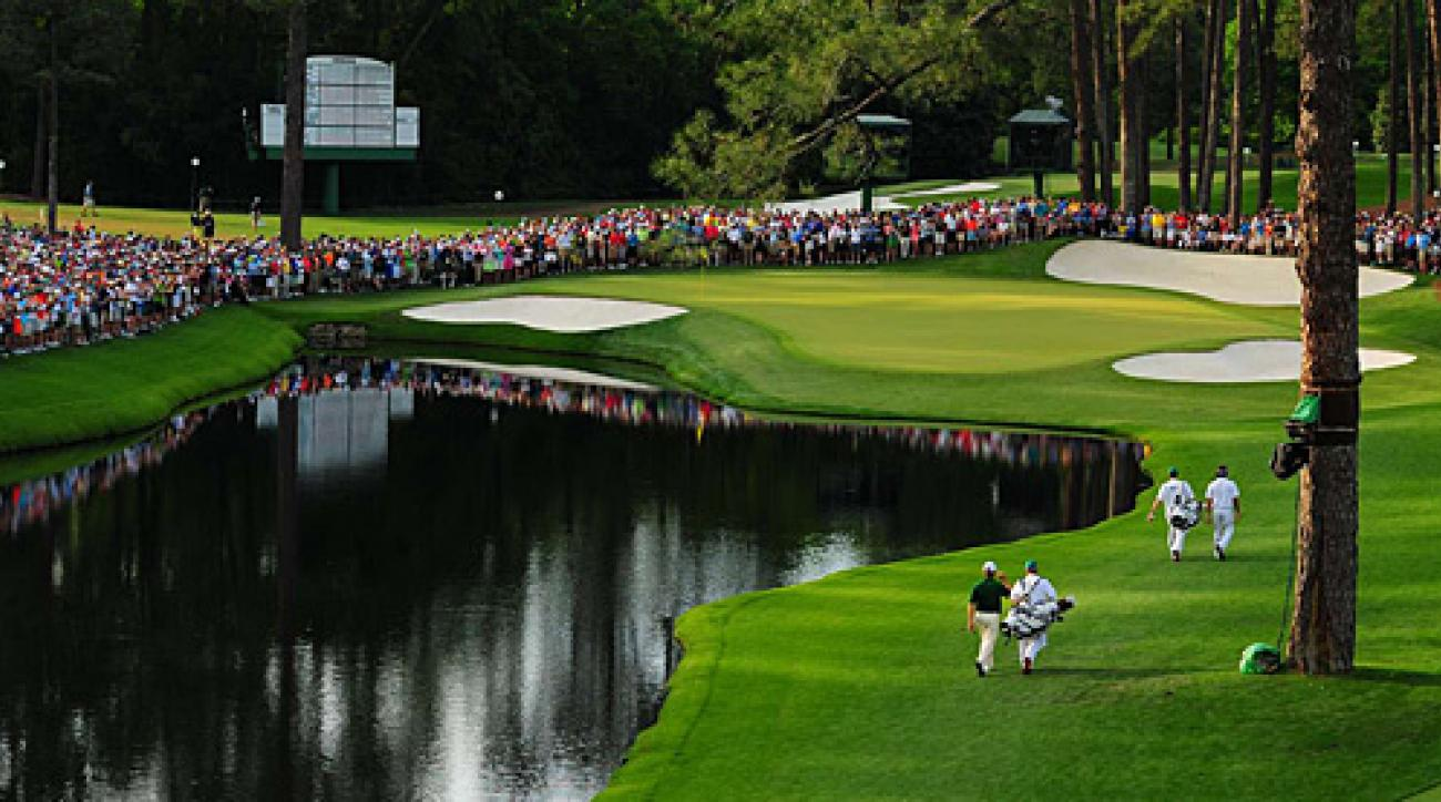 Bubba Watson and Louis Oosthuizen strolled to the 16th green on Sunday.