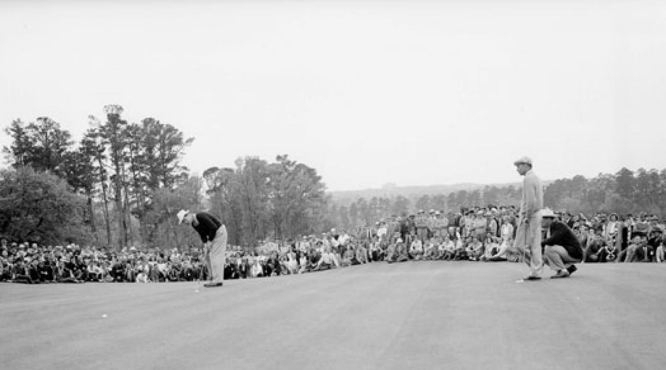 In 1942, Nelson (left) made par on the 72nd hole, then won in a playoff over Hogan, a finish that might have saved the Masters.