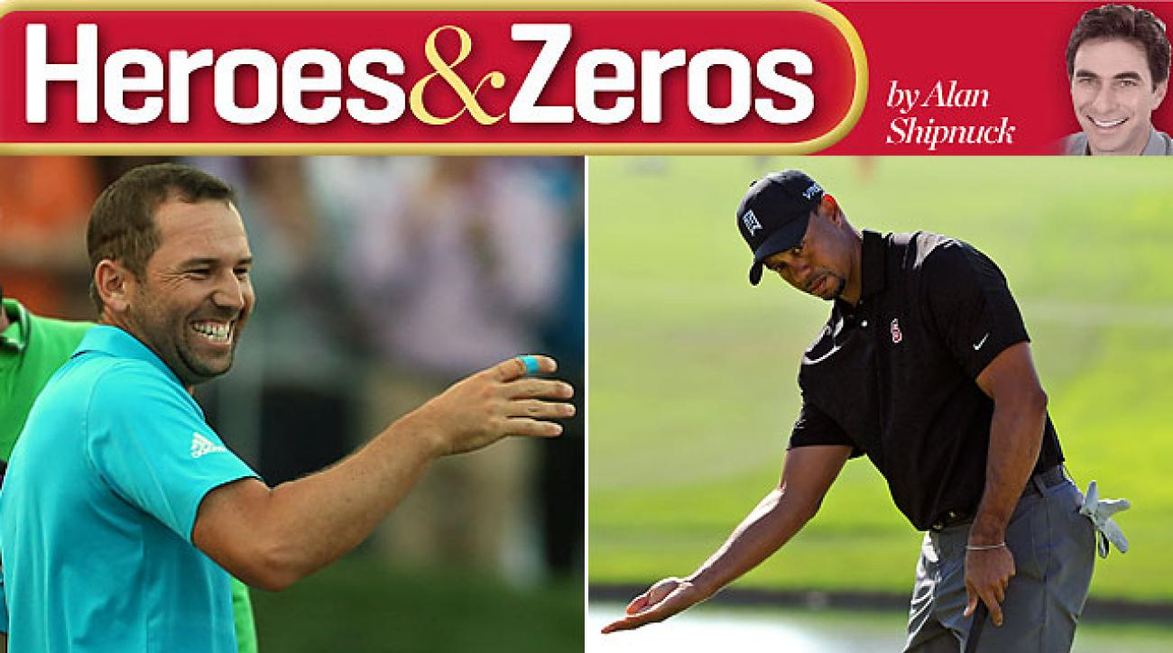 Sergio Garcia's victory in Qatar netted him a spot on this week's Heroes list. Tiger's struggles at Torrey equaled a Zero.