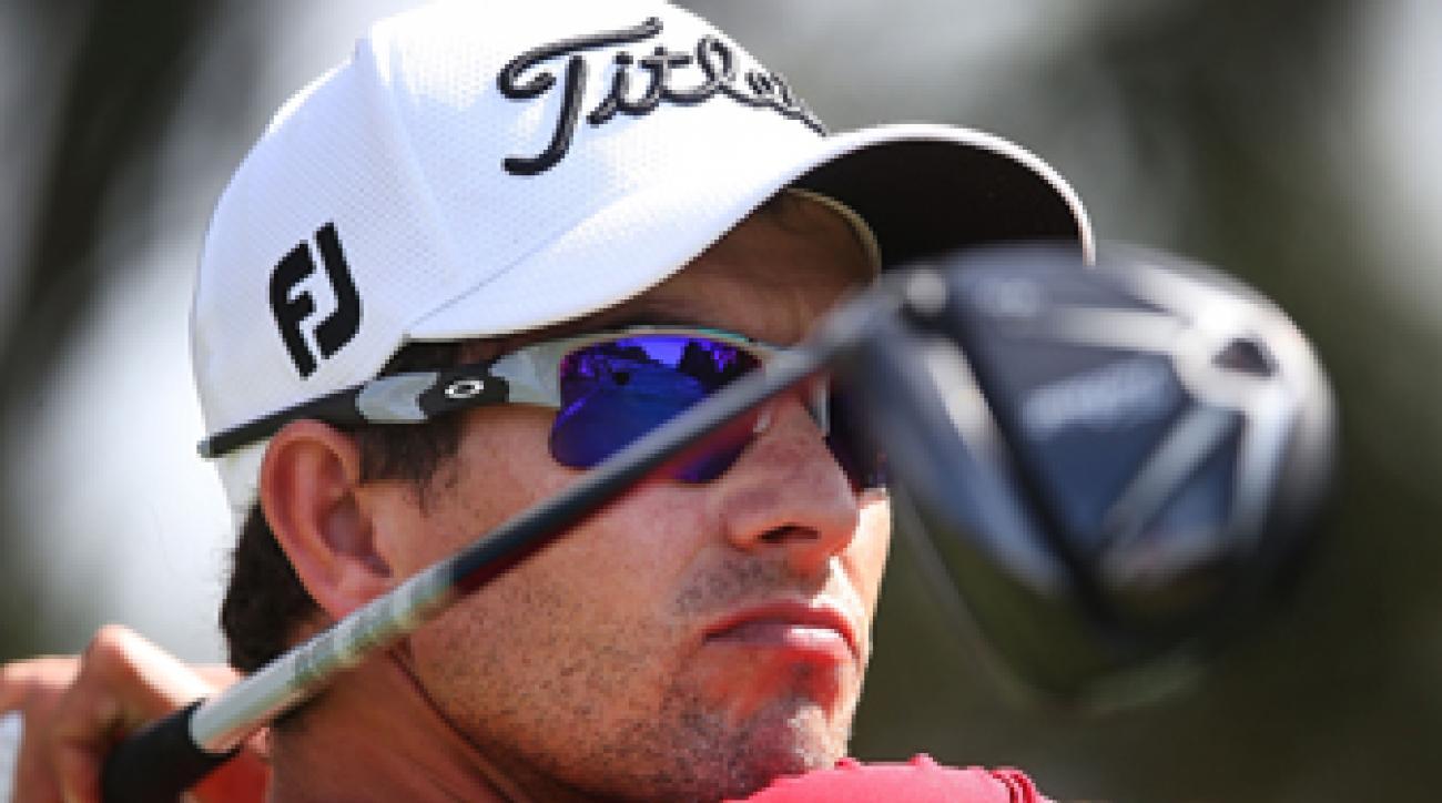 Adam Scott at Day 3 of the 2014 Australian Masters.