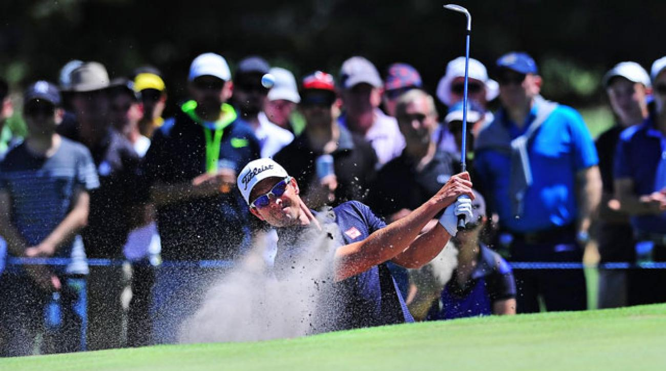 Adam Scott shot a 4-under 68 Friday and is six shots behind leader Michael Wright at the Australian Masters.