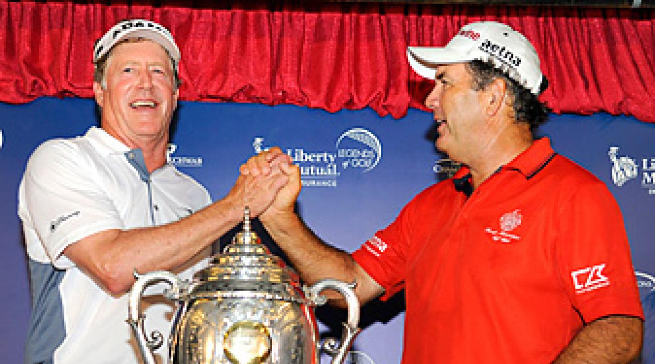 Michael Allen and David Frost teamed up to win by one stroke.