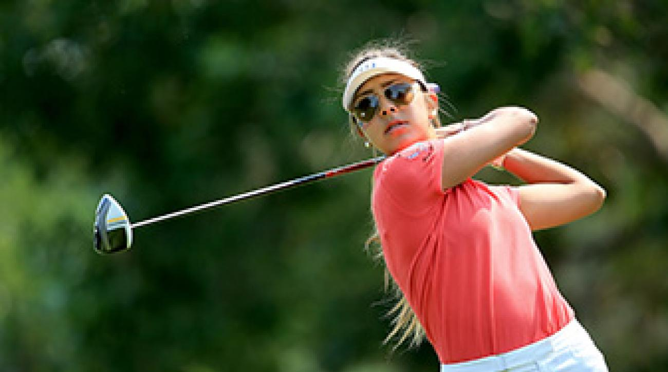 Alison Lee of UCLA in action during the 2013 Ping Junior Solheim Cup at Inverness Golf Club.