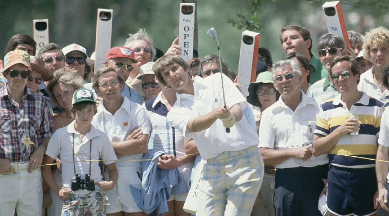 Andy North en route to his win in the 1978 U.S. Open at Cherry Hills.