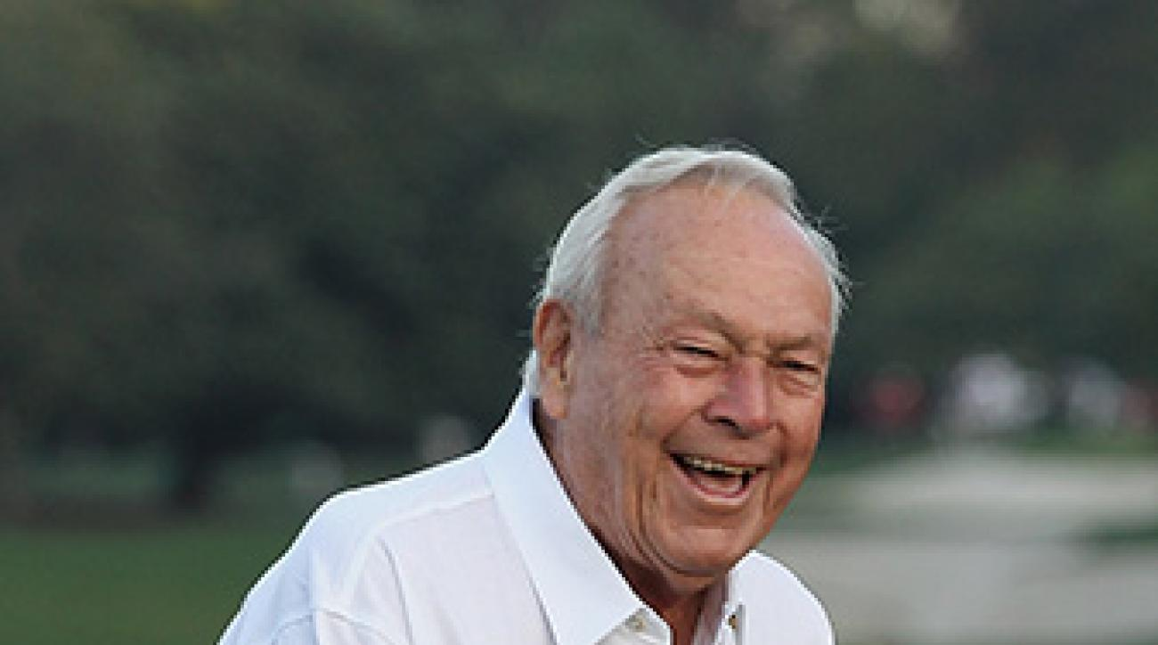 Arnold Palmer at The Masters at Augusta National Golf Club on April 5, 2012 in Augusta, Georgia.