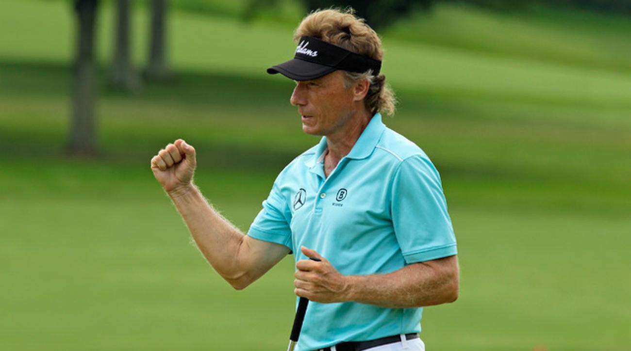 Bernhard Langer has now won three major titles on the Champions Tour.