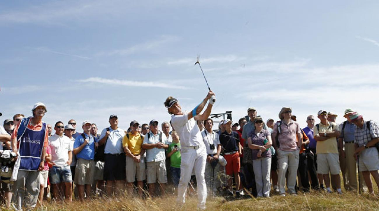 Bernhard Langer is in commanding position after two rounds of the Senior British Open.