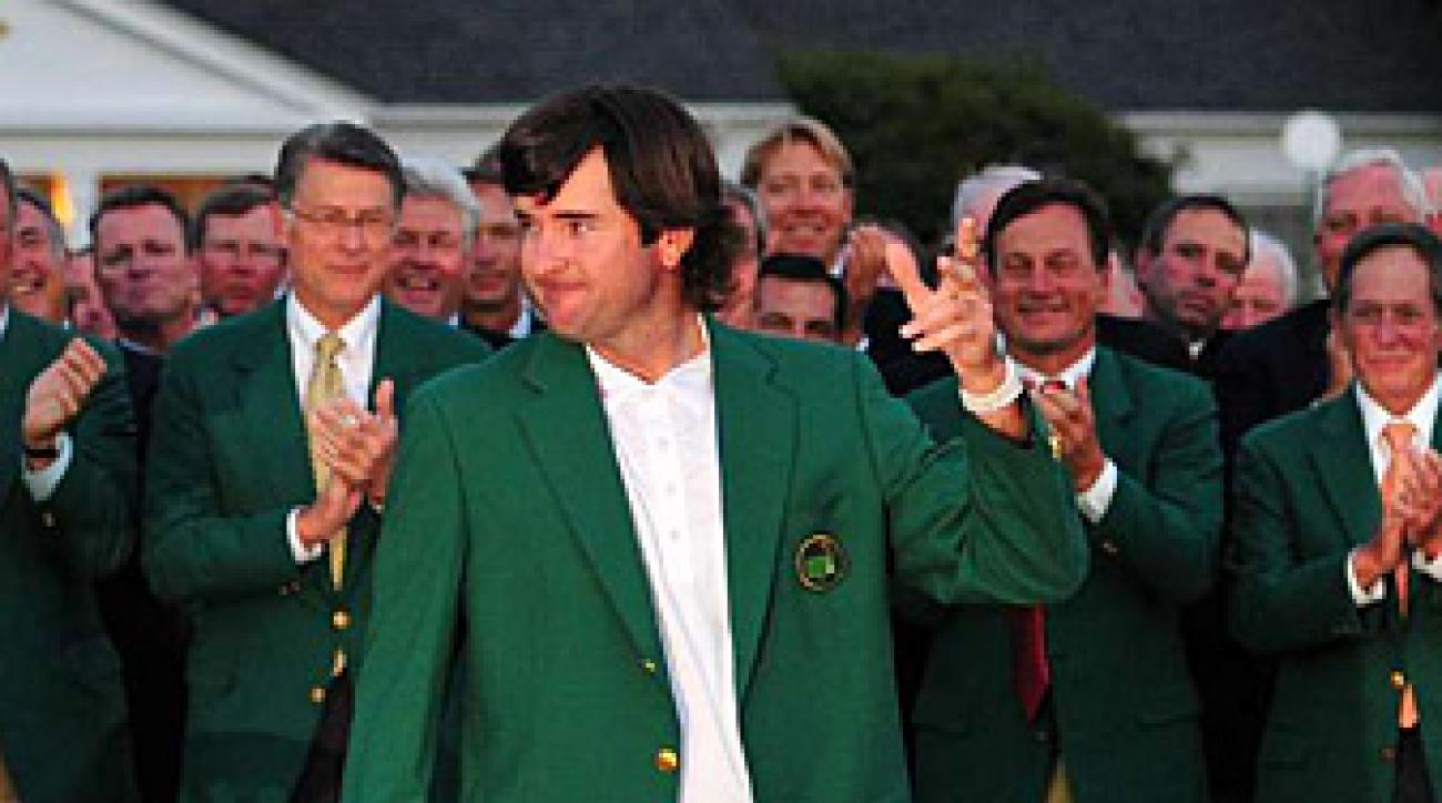 Bubba Watson beat Louis Oosthuizen in a playoff to win his first career green jacket.