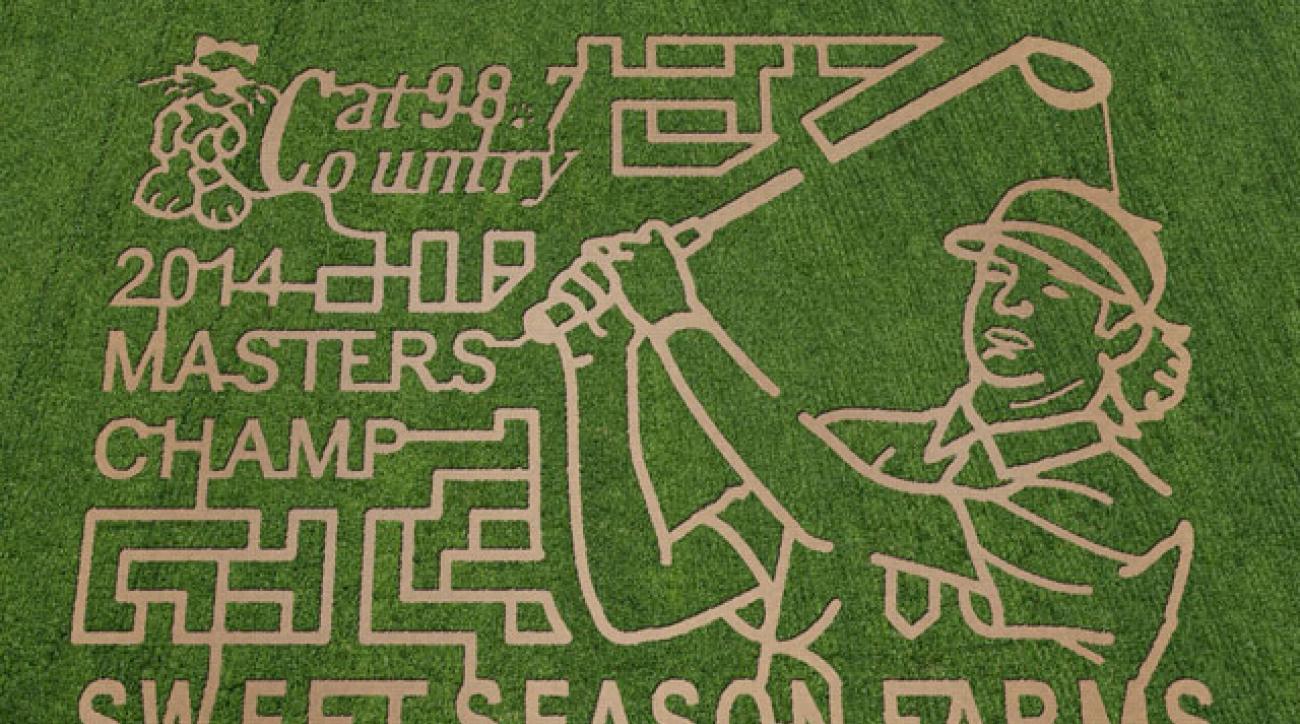The Bubba Watson corn maze in Berrydale, Fla.