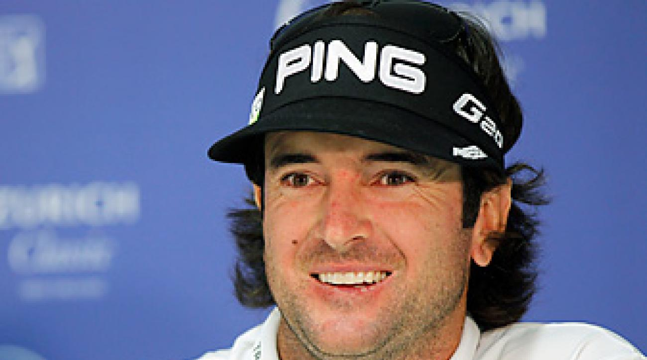 Bubba Watson was all smiles at his Tuesday press conference in New Orleans.