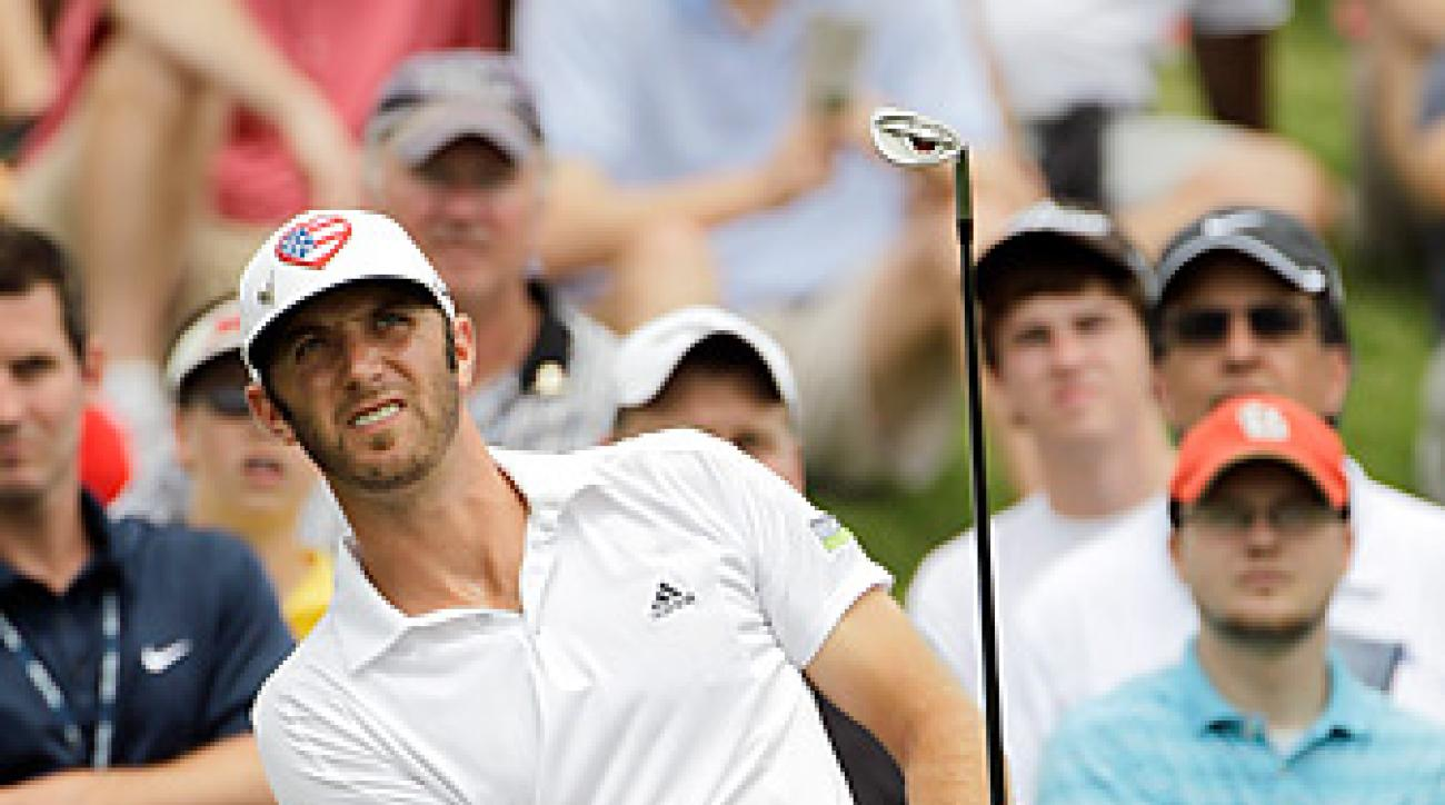 Dustin Johnson won in his second event since returning from a back injury.