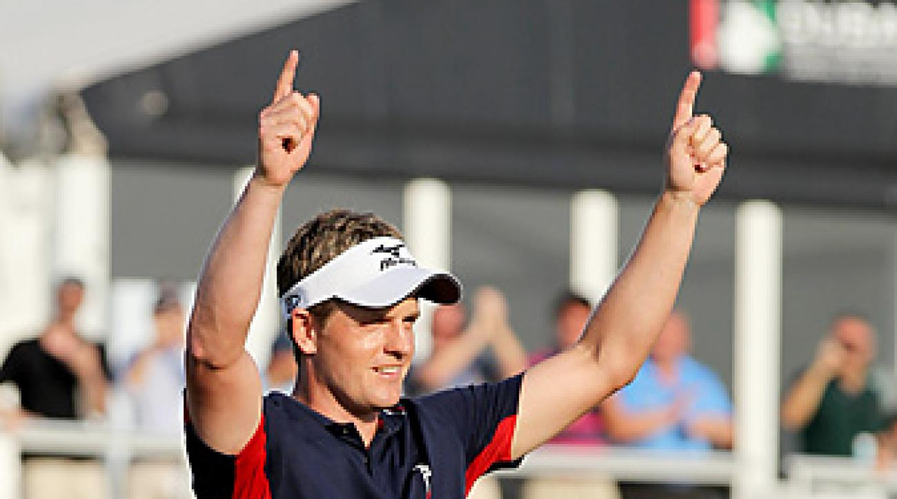 Luke Donald finished in third place at the Dubai World Championship, which was enough to clinch the European Tour money title.