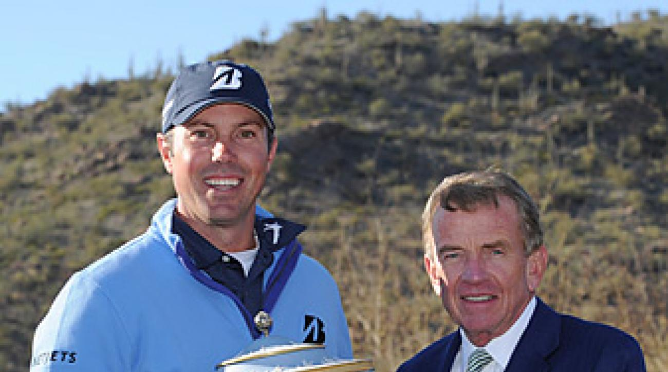 Tim Finchem did more in Arizona that present a trophy to Matt Kuchar -- he stated that the PGA Tour does not support the proposed ban on anchored putting.