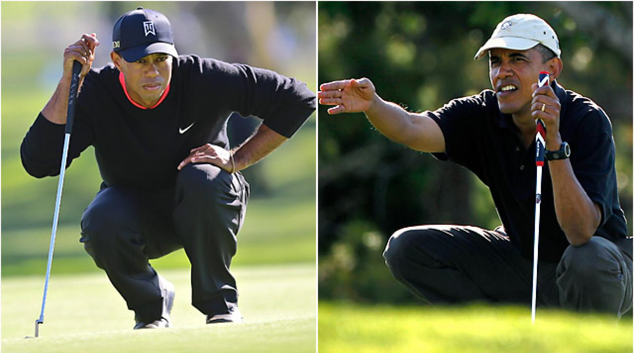 Tiger Woods and Barack Obama played a round together at the Floridian, a secluded and exclusive yacht and golf club on Florida's Treasure Coast.