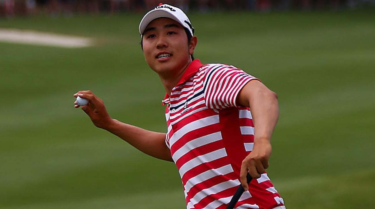 Sang-Moon Bae shot a final-round 69 in tough conditions to win the Byron Nelson for his first career PGA Tour title.