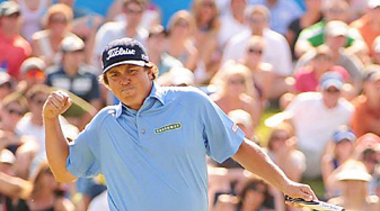 Jason Dufner won the Byron Nelson with a birdie on the final hole.