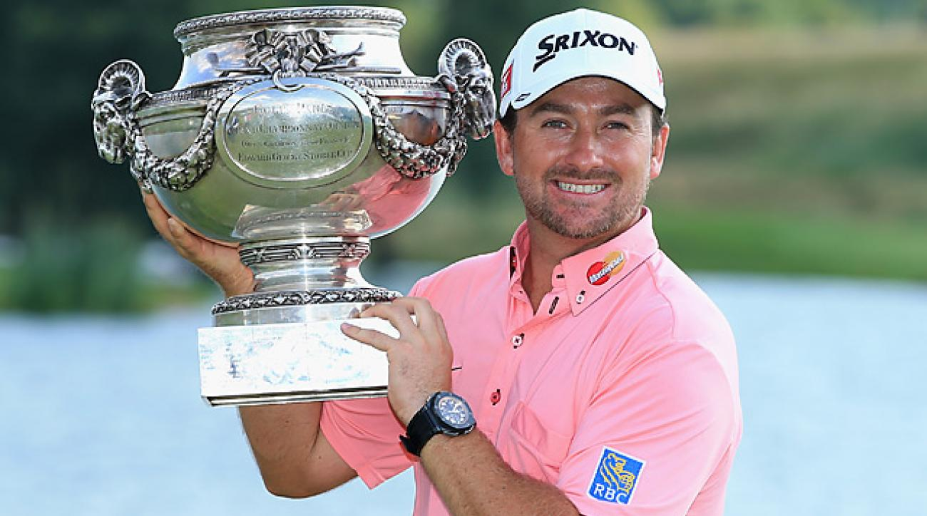 Graeme McDowell pulled away on Sunday at the French Open, his final event before the British Open at Muirfield.