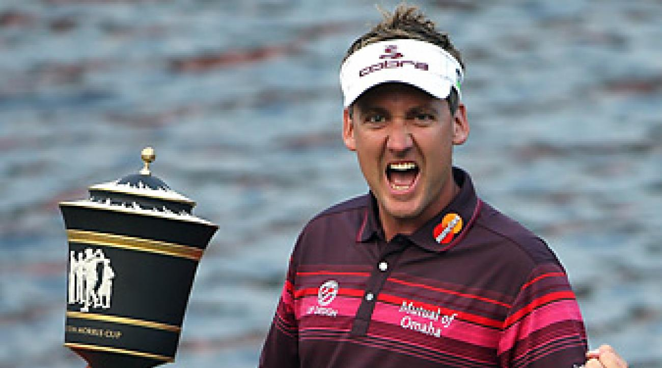 Ian Poulter erased a four-shot deficit in the final round to earn his first title of 2012.