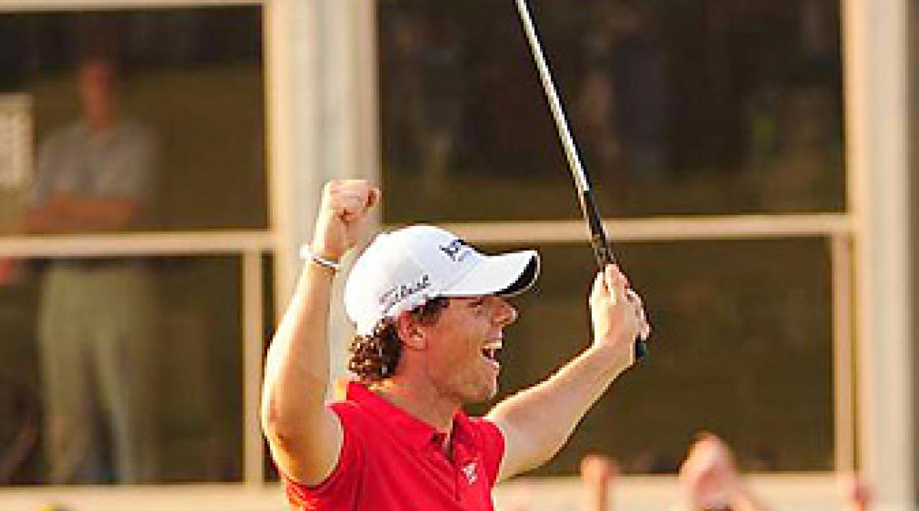 Rory McIlroy shot a bogey-free 66 in the final round to win by a PGA-record eight shots.