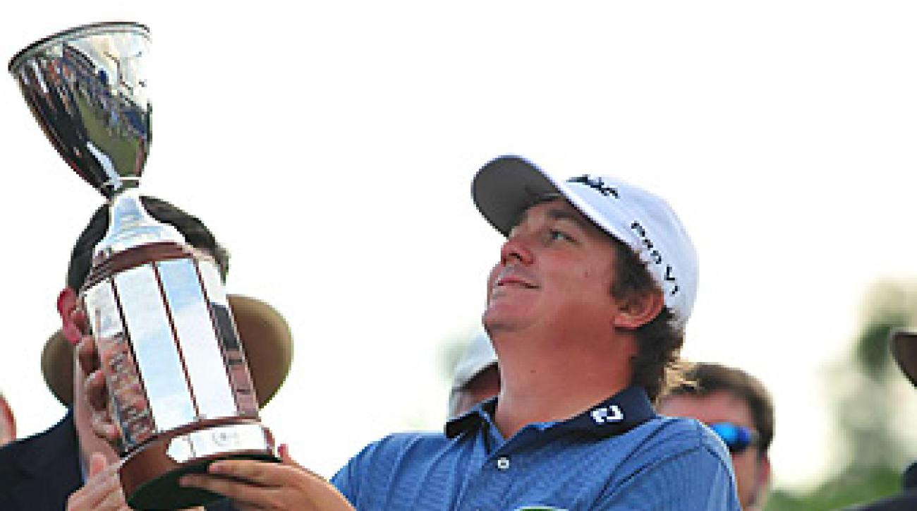 Jason Dufner won his first PGA Tour event in 164 career starts.