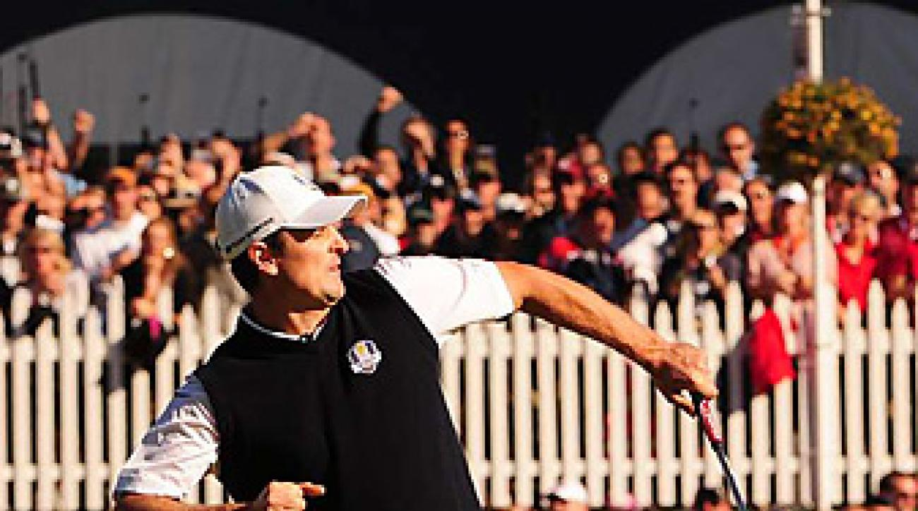 Justin Rose rallied to beat Phil Mickelson as Europe completed an improbable final-day comeback.