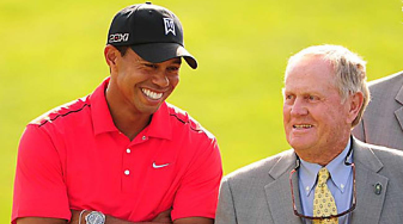 Tiger Woods and Jack Nicklaus shared a laugh after Woods won the Memorial.