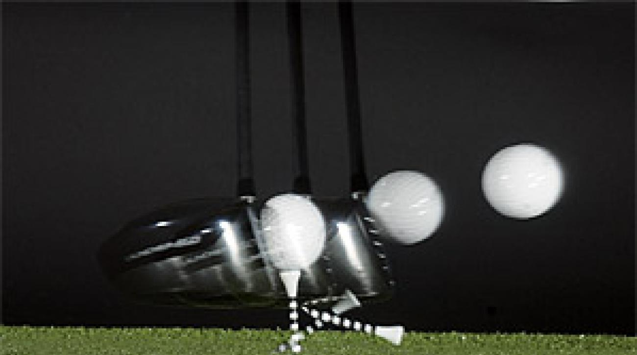 The spin your driver produces at impact has a big effect on how far your tee shots fly.
