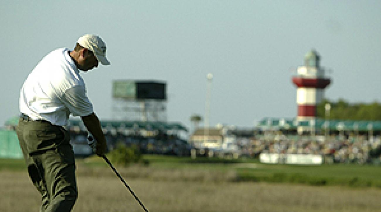 """Like Stewart Cink, you too can feel the rush of playing Harbour Town's fabled 18th hole. <span class=""""picturesource"""">Getty Images</span>"""