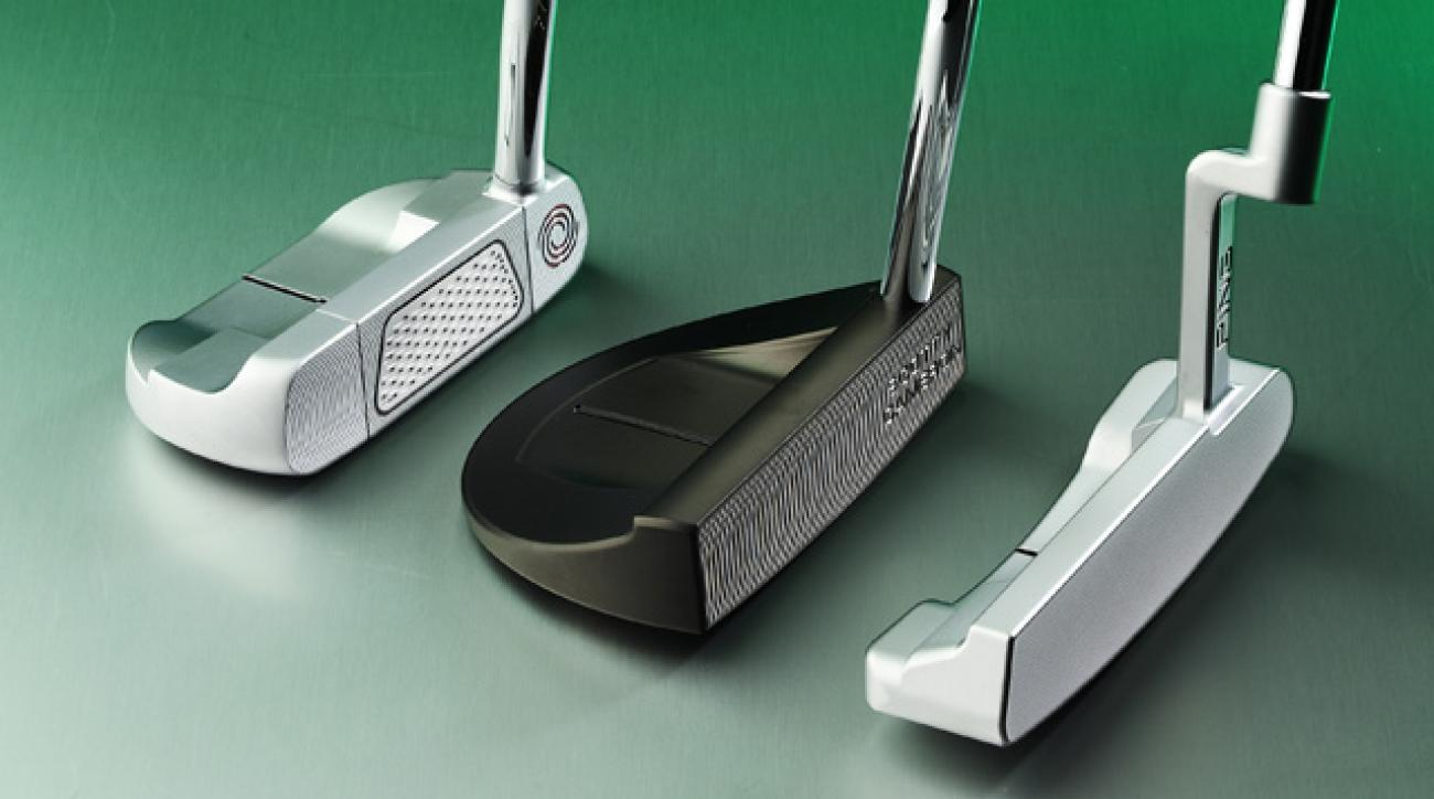 (left) Odyssey Flip Face #5, Titleist Scotty Cameron Select GoLo, Ping Anser Milled 1.